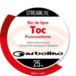 Nylon Garbolino Streamline Fluorocarbone 100% PVDF 25 M pecheur toc pecheur mouche