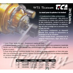 moulinet pecheur traine team 2 v 50r wts peche mer tica catalogue peche